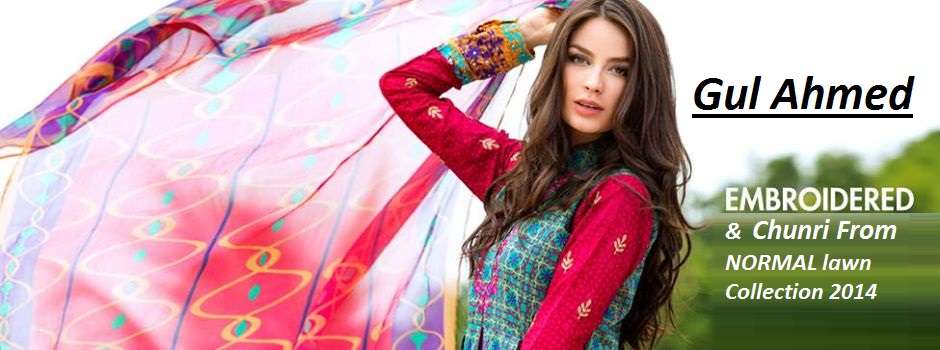 Gul Ahmed New Embroidered and Chunri Lawn Collection: