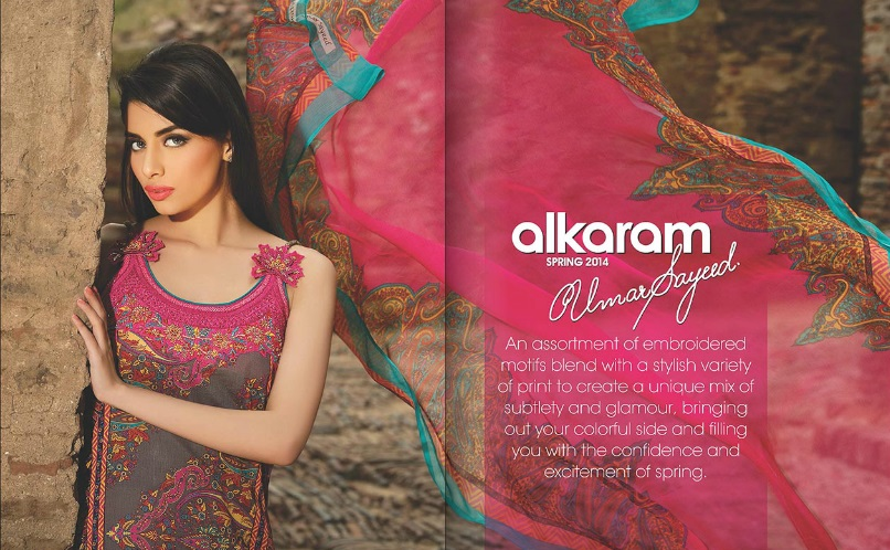Umar Sayeed New Lawn Collection Alkaram Studio: