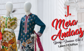 J. Junaid Jamshed Summer Lawn 2018 Catalog with Prices