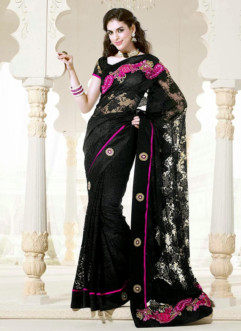 Latest Design Of Assam Type House: Latest And Stylish Indian Designer Sarees 2014 Designs