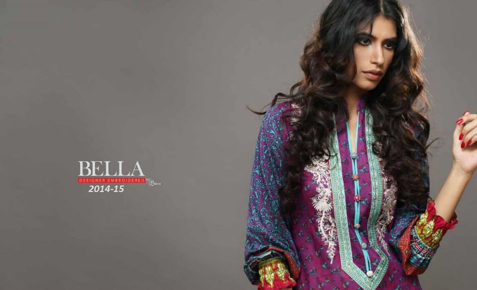 Bella Designer Embroidered Lawn by Shariq Textile 2014