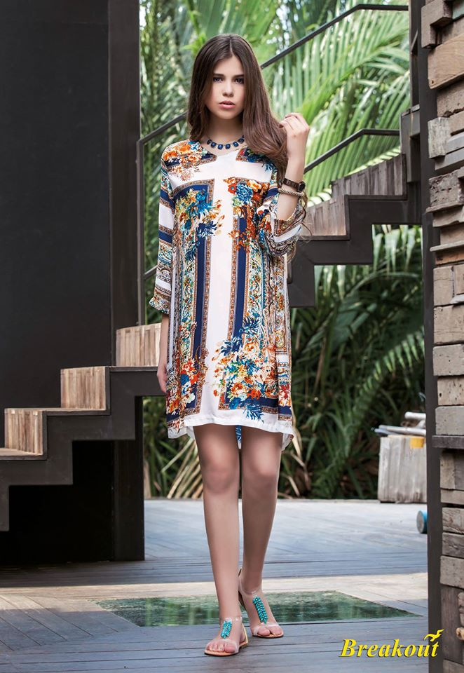 Breakout summer collection 2014 urban tropic for Bano market faisalabad dresses