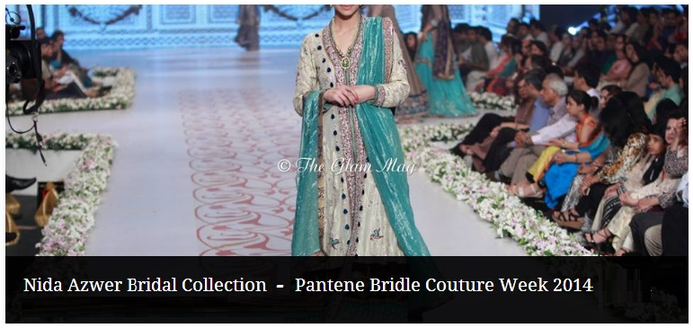 Nida Azwer Trendy Bridal Wear Collection at Pantene Bridal Couture Week