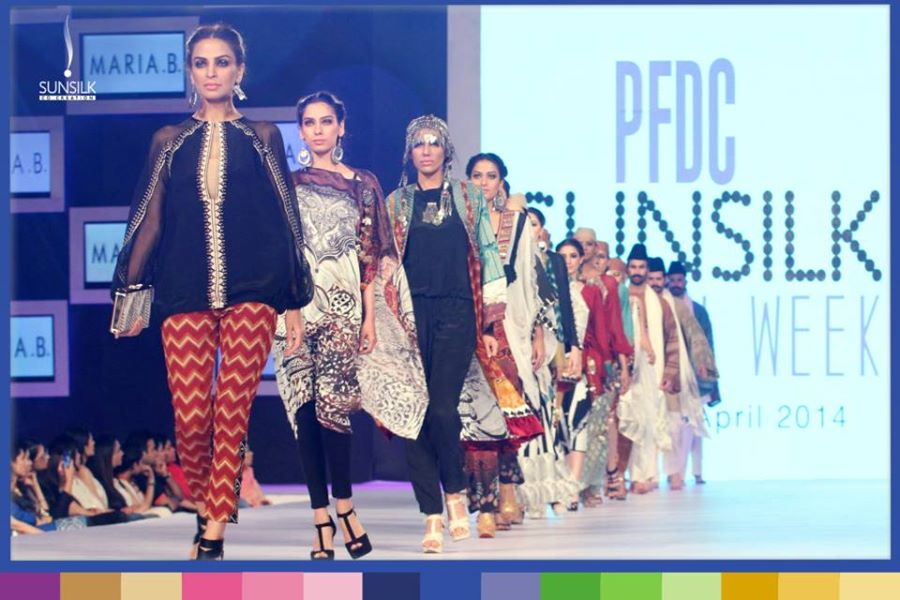 "Maria B Party Wear Dresses ""Ladakh Connection"" at PFDC Sunsilk Fashion Week"