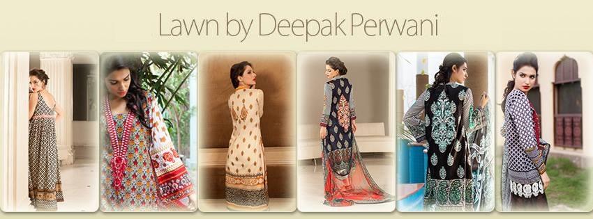 Deepak Perwani Lawn Collection 2014