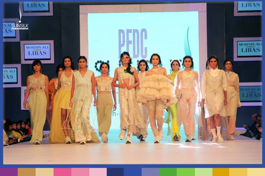 "Mohsin Ali Party Wear Outfits ""Libas Collection"" at PFDC Sunsilk Fashion Week"