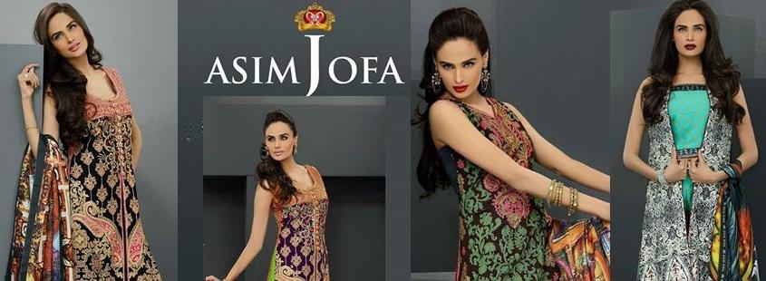 Asim Jofa Charmeuse Silk Collection 2014