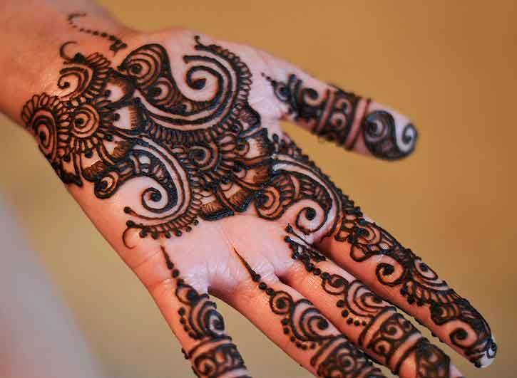 Stylish peacock round tikki mehndi designs collection - Mehndi Designs Will Guide You To Decorate Your Hands Wonderfully On