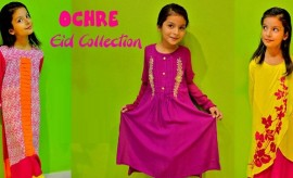 OCHRE New Kids Wear Eid Dresses 2016-2017 Collection with Prices