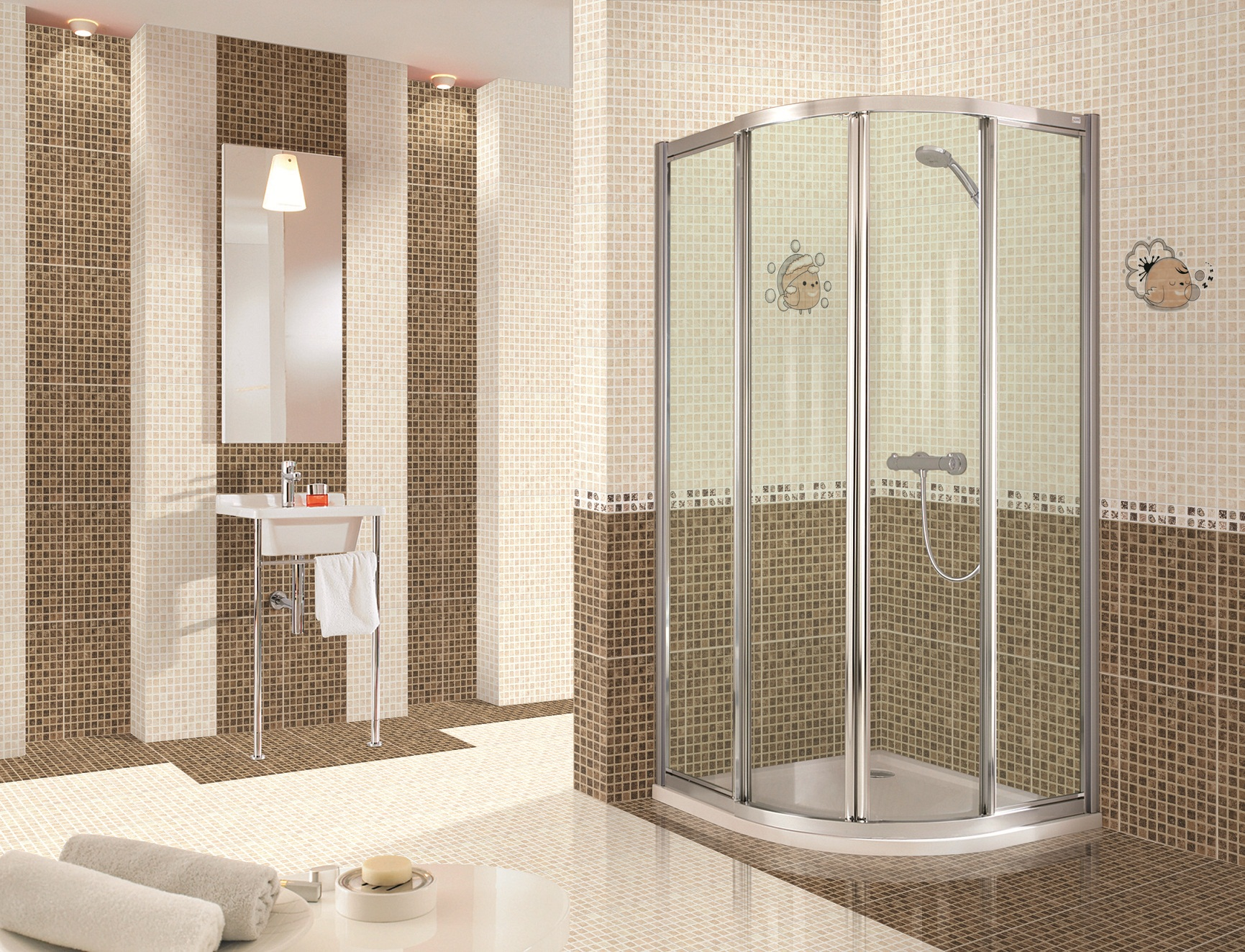 Bathroom tiles designs 2016 - Ceramic Wall Tile Design Brilliant With Interesting Bathroom Decorating Ideas New Trendy Washroom Designs With Tiled