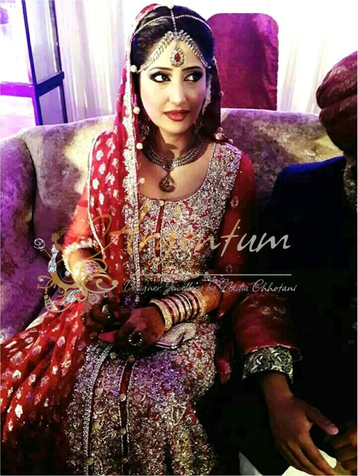 Bride in Nadia Chhotani Bridal Jewelry
