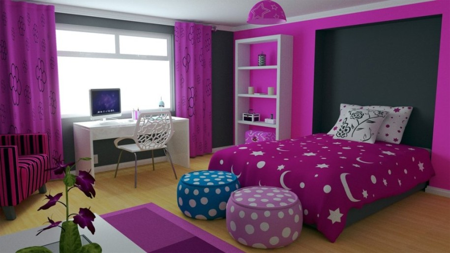 Girly bedroom ideas for young and teenage girls to for Bedroom designs for young ladies