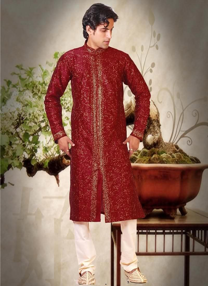 Groom-Mehndi-dresses-Collection-for-Boys (5)