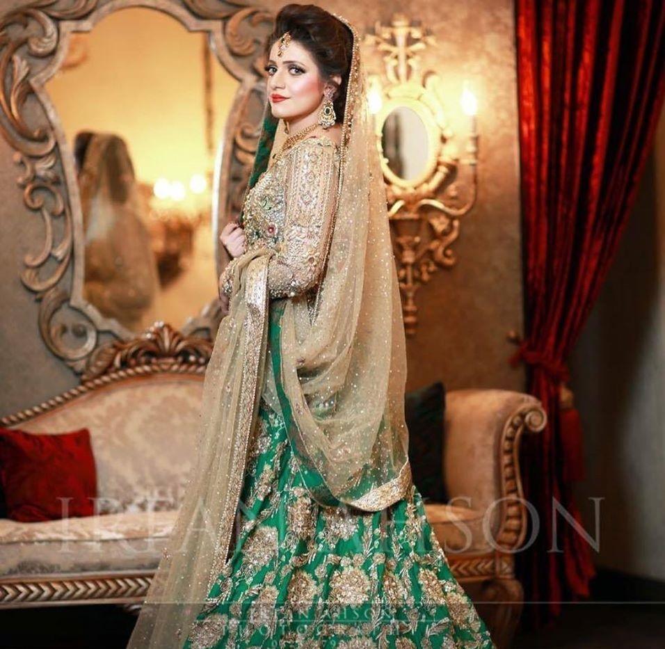 Elegant Skin Green Bridal Dress