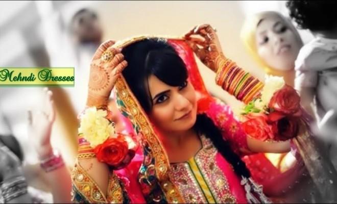 Bridal Mehndi Ideas : Bridal mehndi dress designs ideas  for brides