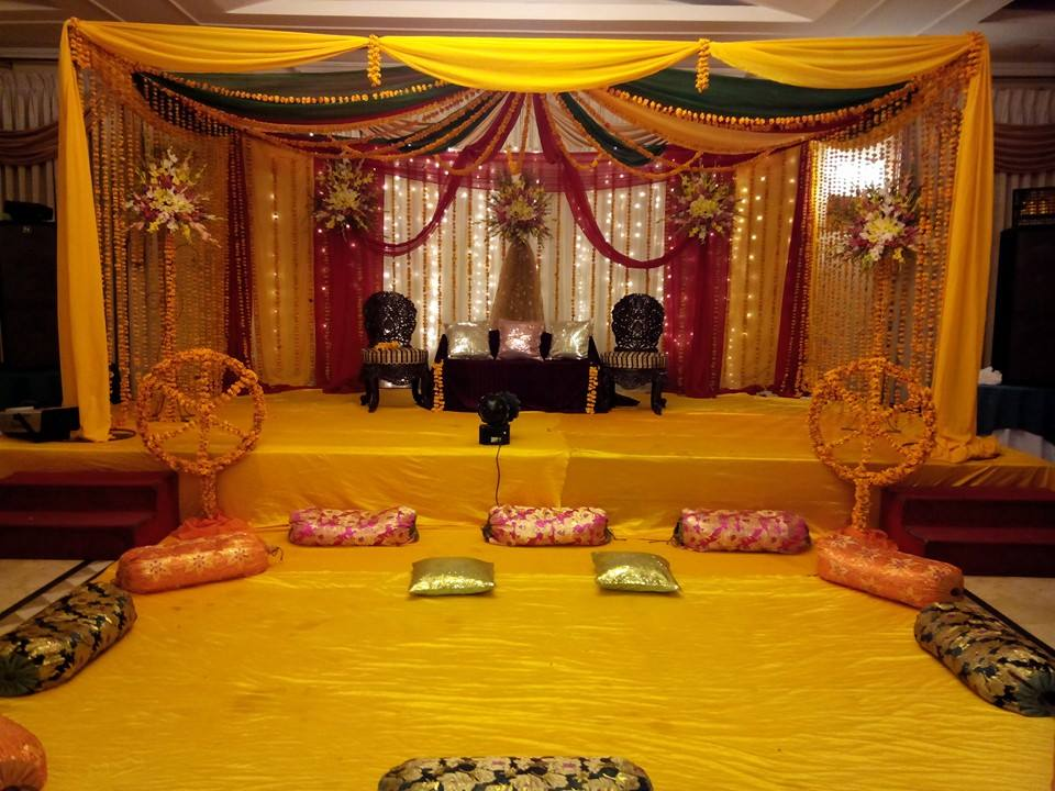 Mehndi Stage Decoration Ideas At Home : Mehndi stage decor plans and rasm e henna trends