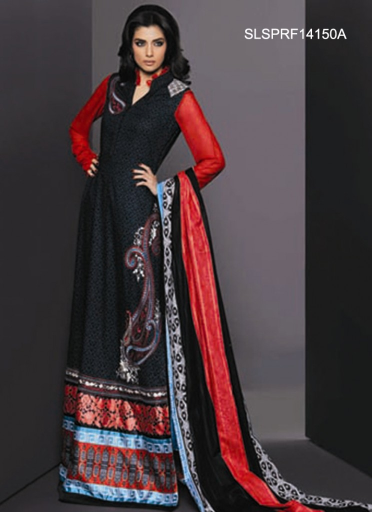 Latest And Trendy Shalwar Kameez Styles 2014 For Women
