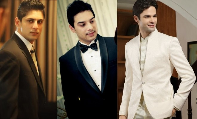 Groom's reception outfit designs