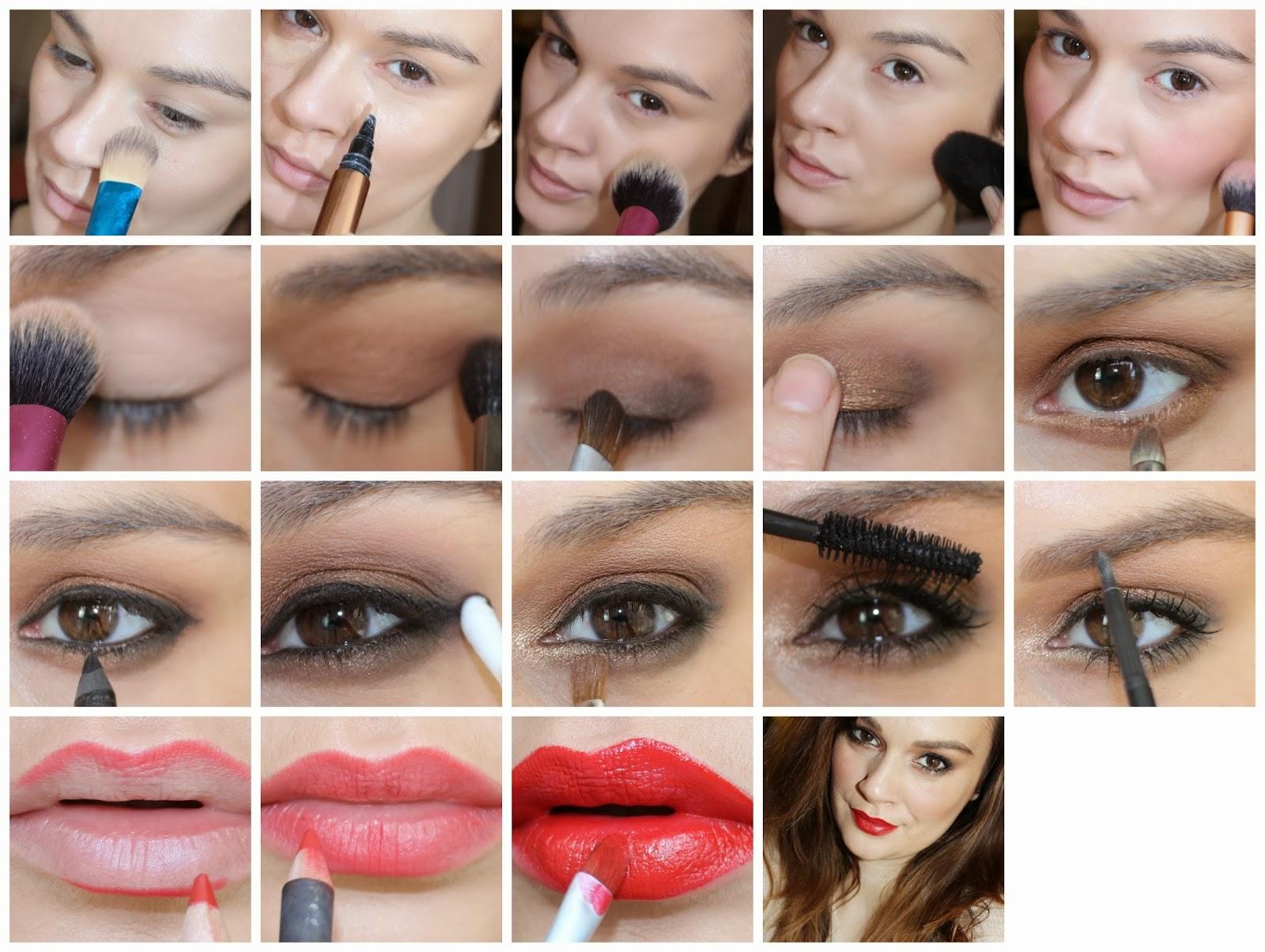 Как красиво накрасить лицо в домашних условиях