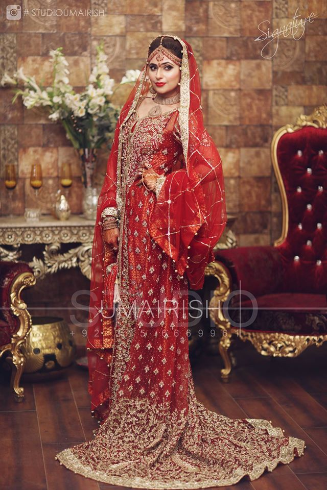 Best Red Bridal Lehenga Designs (10)