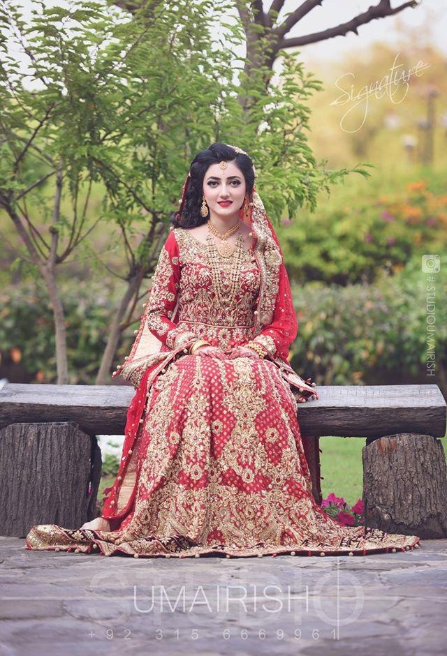 Red Bridal Lehenga Kurti