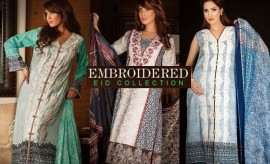 Deepak Perwani New Embroidered Eid Collection 2015 by Zeniya Lawn