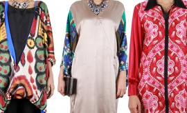 Sana Safinaz Beautiful Silk Tunics Collection For Women