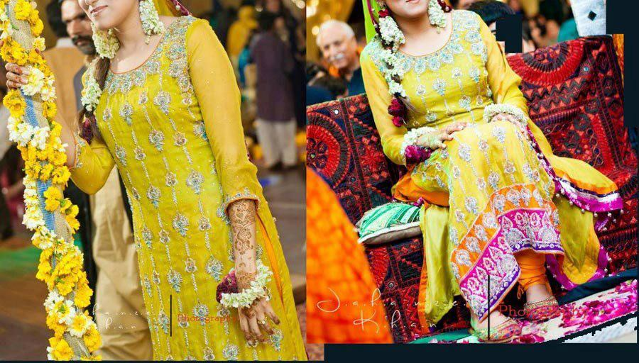 Yellow-Bridal-Mehndi-Dresses (2)