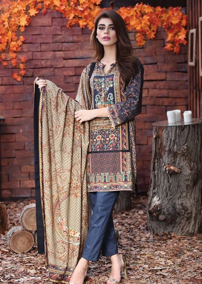 Alkaram Digital Printed Winter Dresses 2016-2017