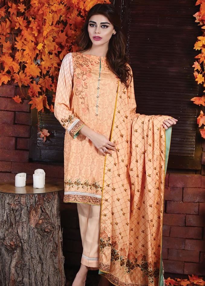 Alkaram Northern Hues Unstitched Winter Dress