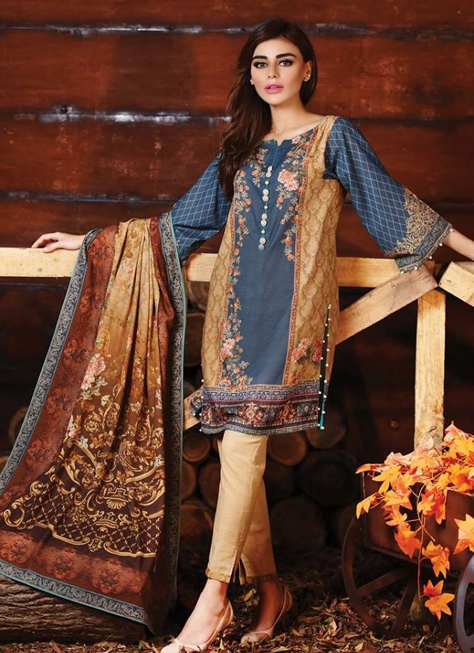 Alkaram Digital Printed Winter Dress
