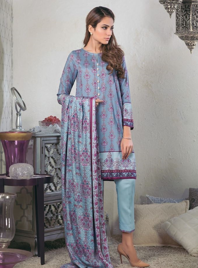 Alkaram Resham Linen Suits for Winter