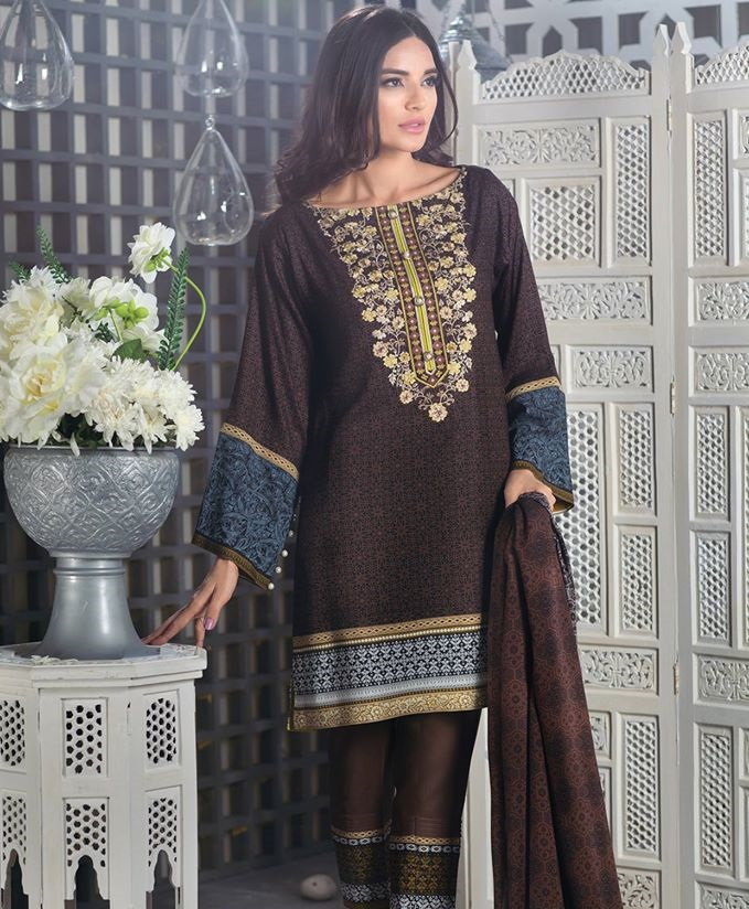 Resham Linen Dress by Alkaram