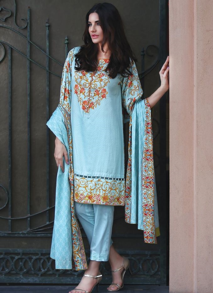 Resham Twill Linen Winter Dress