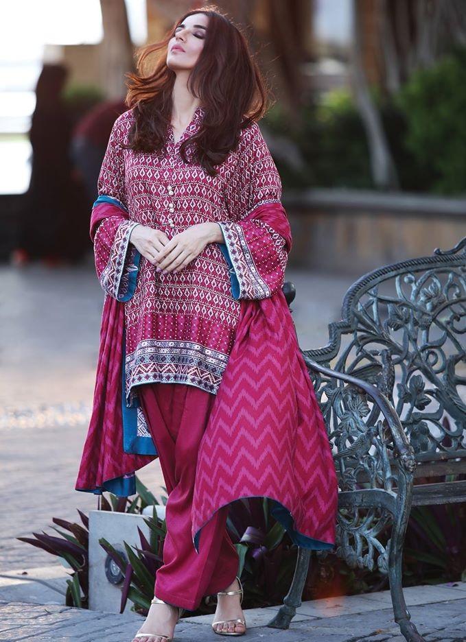 Alkaram Resham Twill Linen Winter Outfit