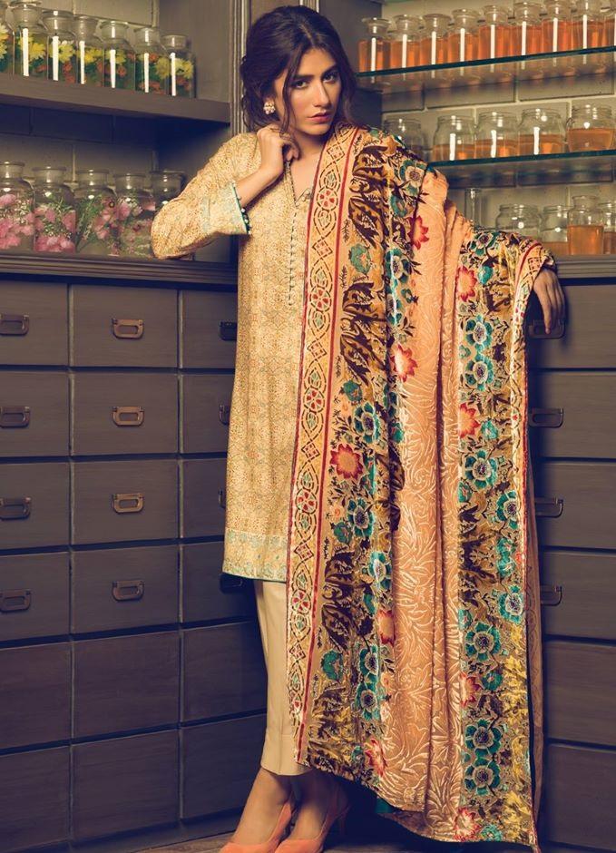 Alkaram Silk Velvet Dupatta Dresss