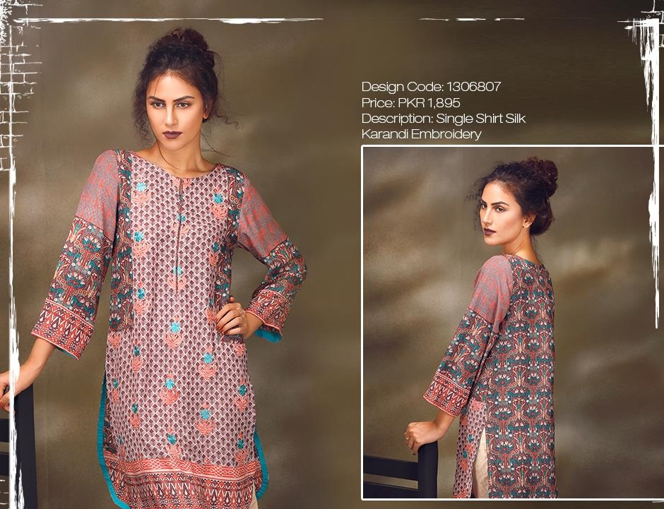 warda silk karandi winter shirts 2016 designs