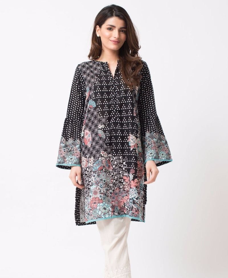 Khaadi stitched winter shirt for women