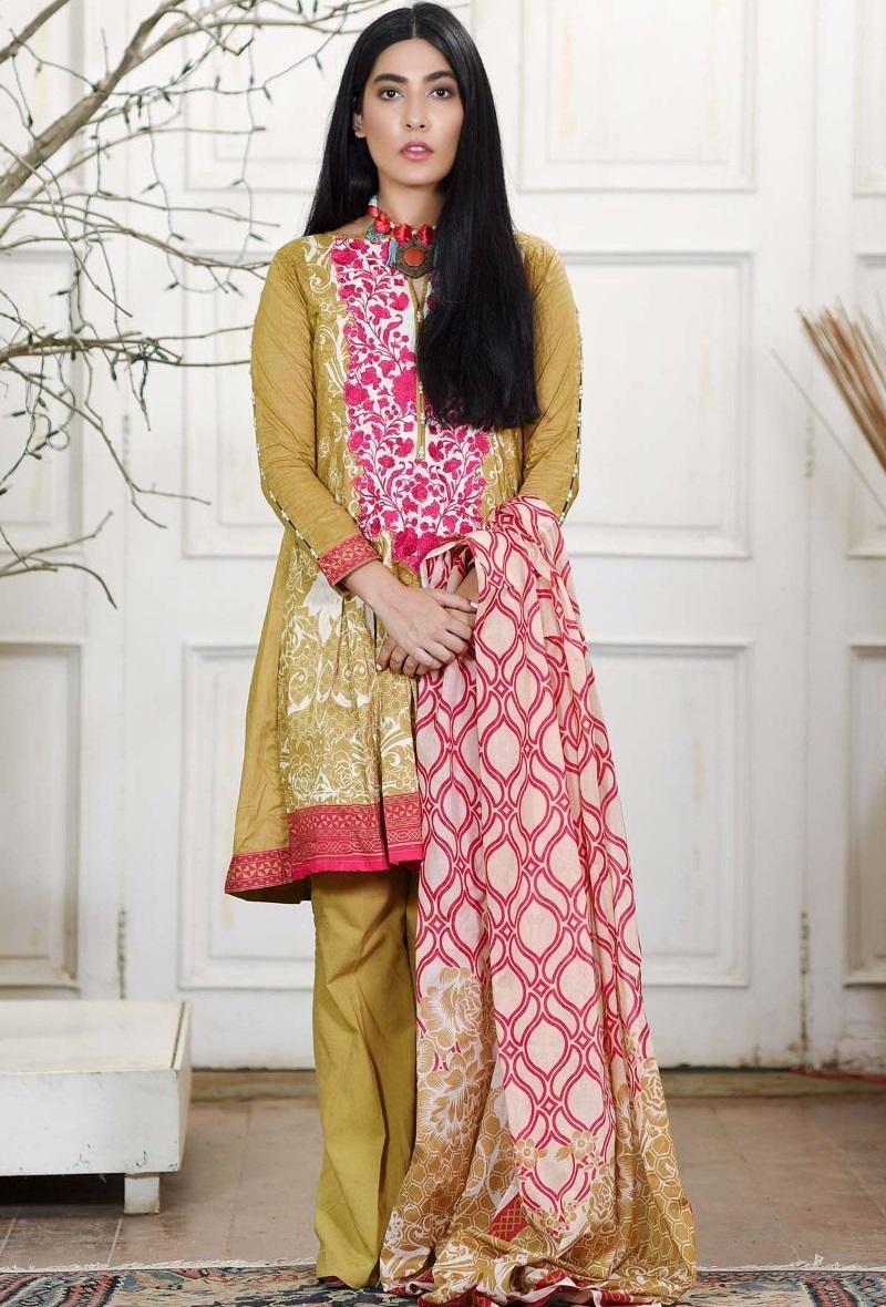 Khaadi three-piece winter dress