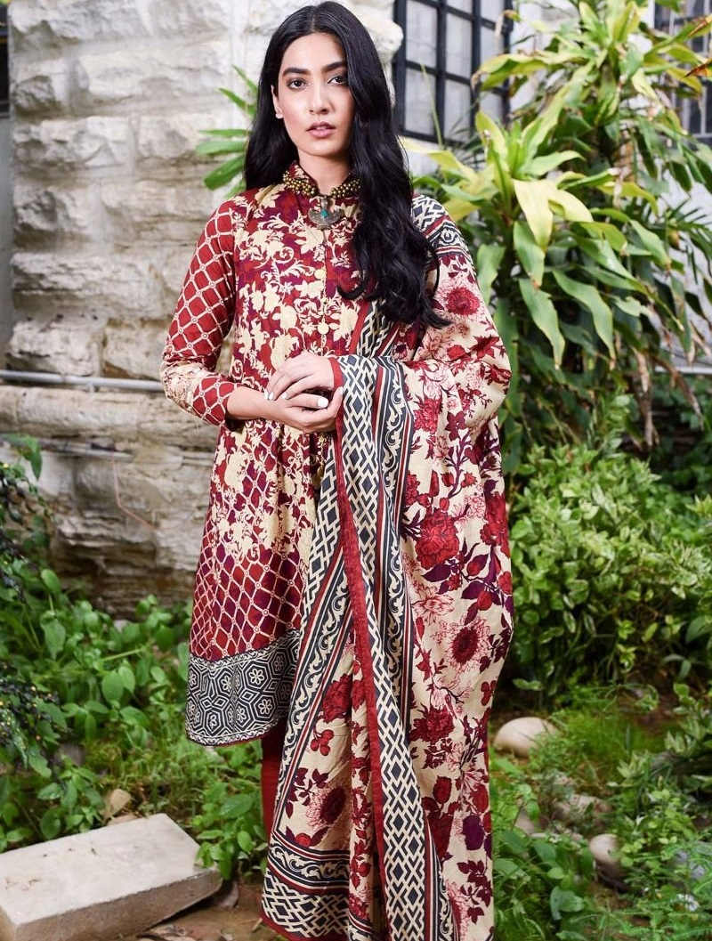 Printed winter outfit by Khaadi