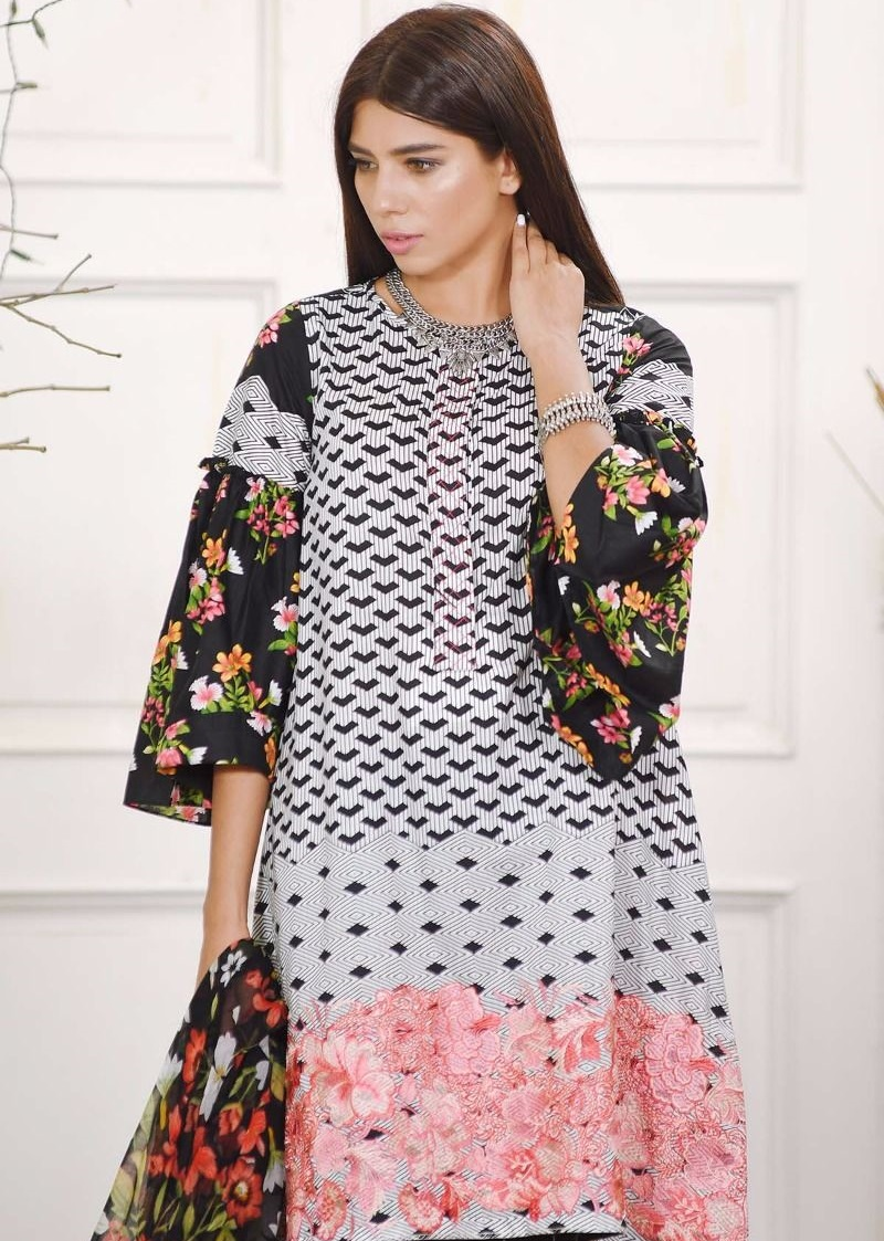 Khaadi embroidered Cambric winter dress