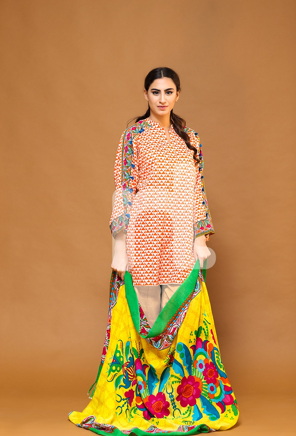 nishat bright yellow winter dress 2016