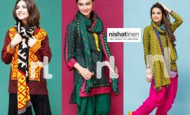 Nisha by Nishat Linen Winter Collection 2017 Catalogue with Prices