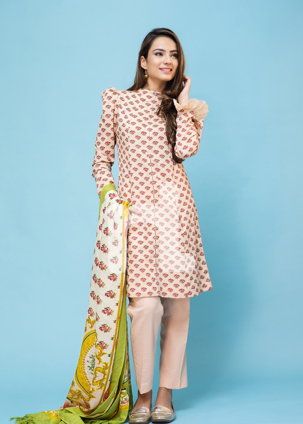 Nishat Linen Skin winter dress 2016