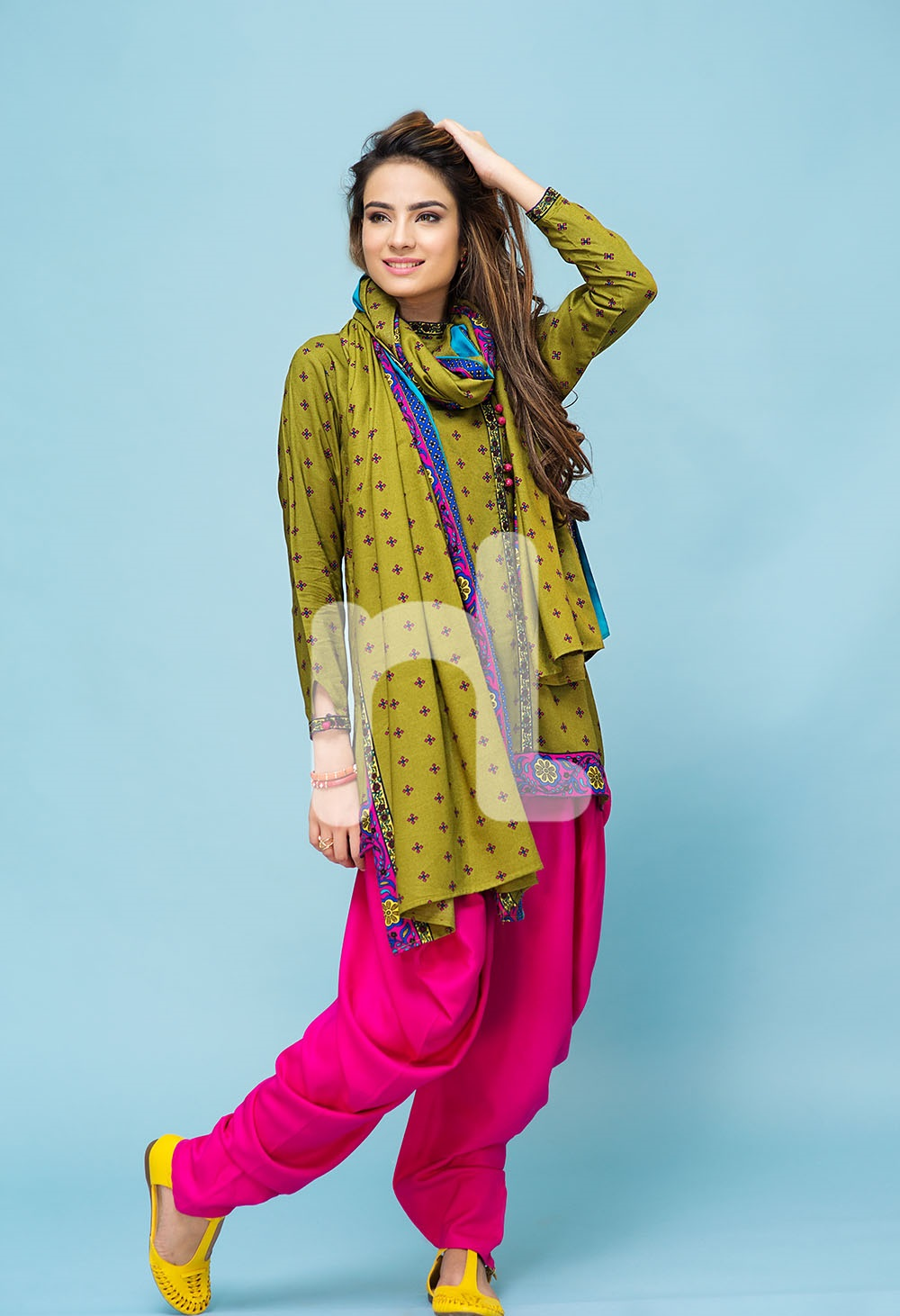 nishat printed linen winter dress 2016