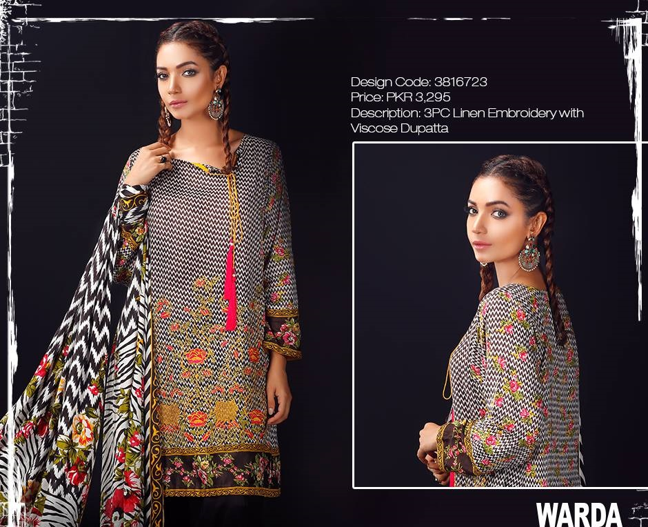 black dress with multi colored embroidery and viscose dupatta
