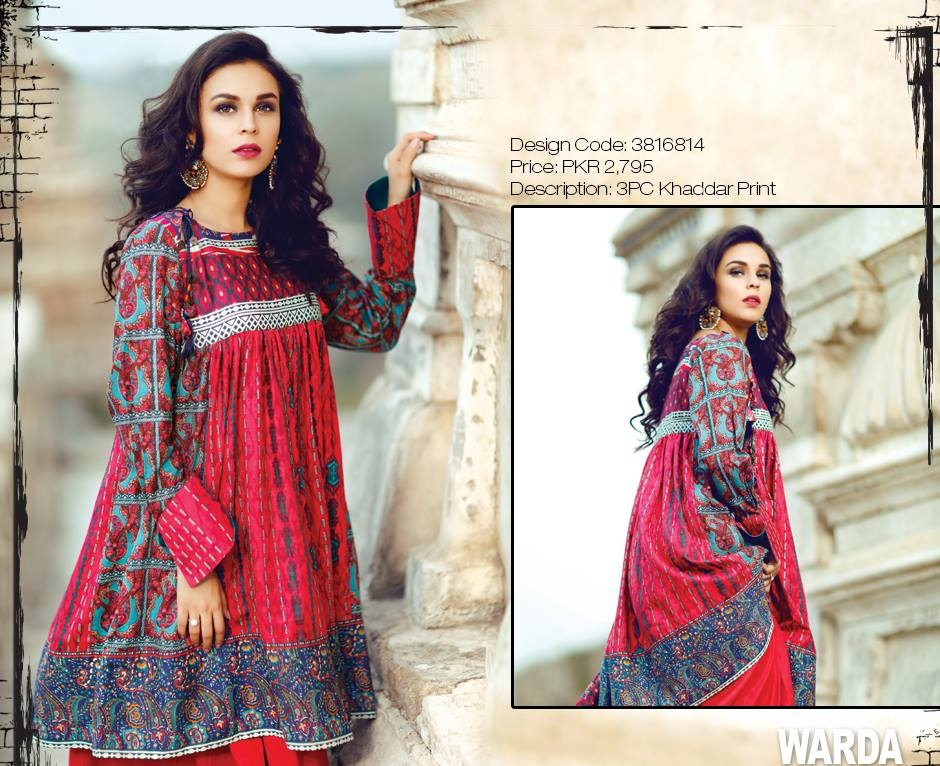 Printed Khaddar Winter suits 2016