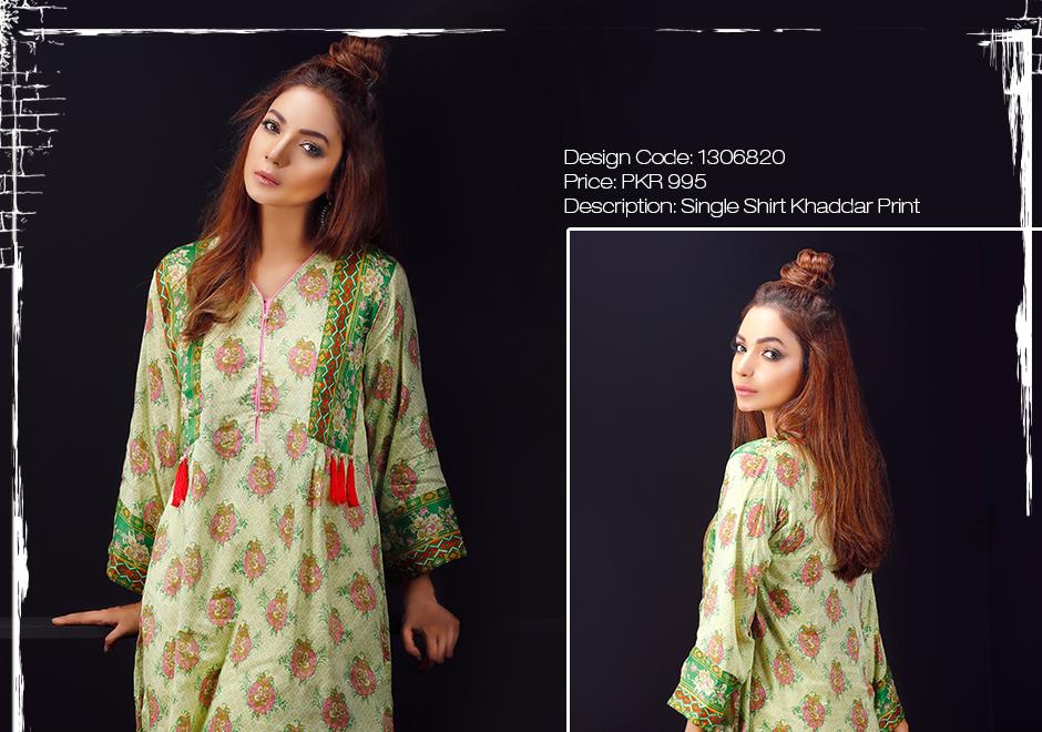 green winter frock by warda