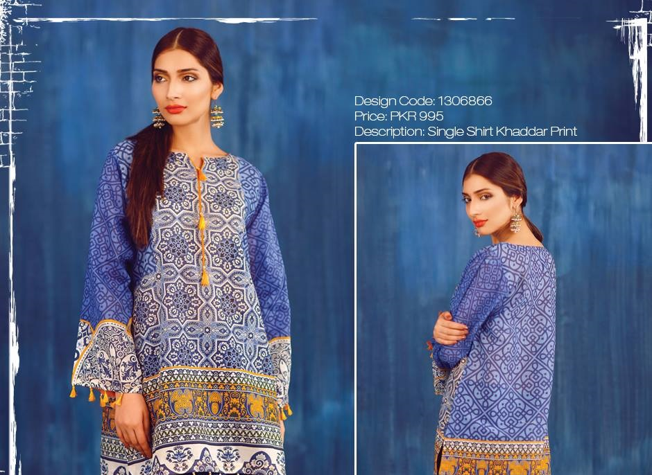 khaddar printed single shirts 2016 by warda