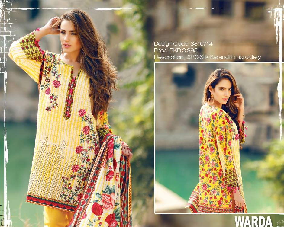 3 piece silk karandi embroidered winter suit